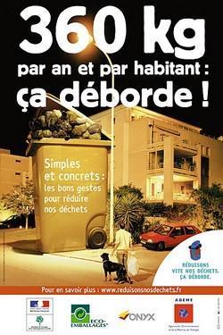 Affiche sensibilisation déchets