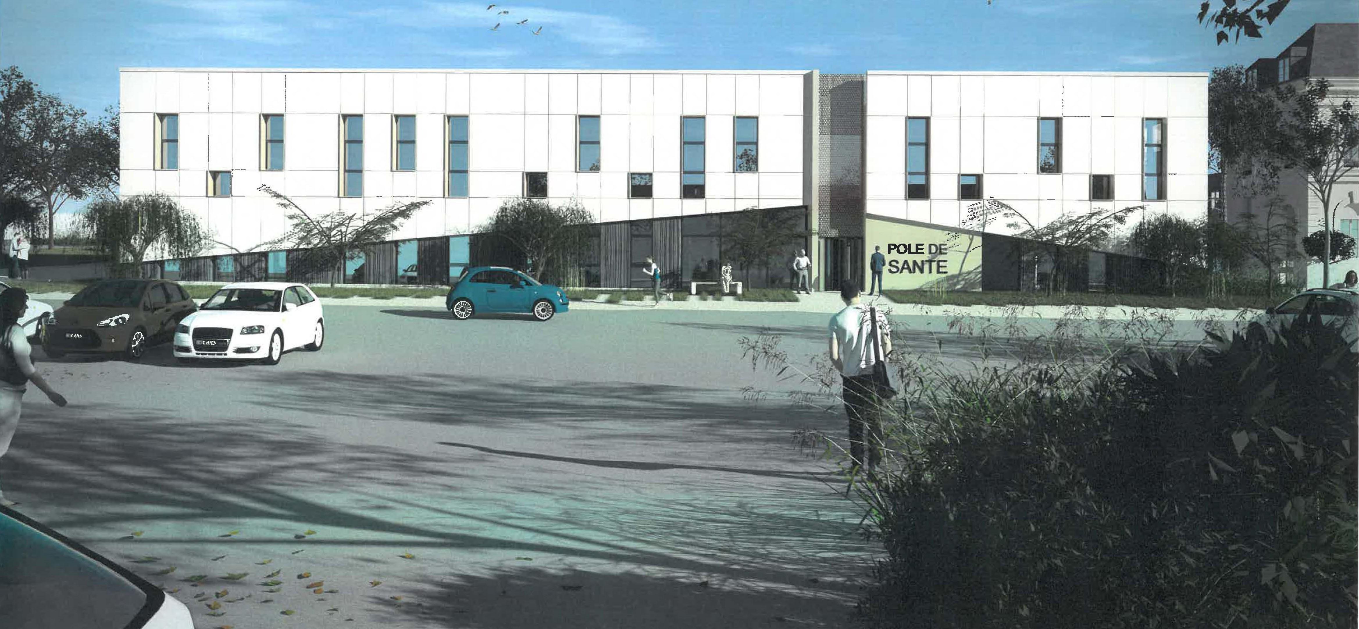 Construction d'un pôle de santé intercommunal au Molay-Littry